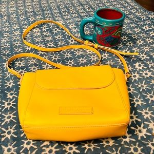 Yellow Vera Bradley Leather Crossbody